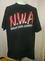 N.W.A Straight Outta Compton Black T-Shirt Gilden Eazy E Mens Size 2XL EUC