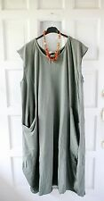 Lagenlook Plus Size Cotton Jersey Parachute Cap Sleeve Dress Size 16-22 Bust 52