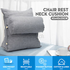Adjustable Cotton Wedge Back Cushion Sofa Bed Chair Neck Support Fip  NEW