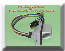 Blower Motor Resistor W/ 2 Heads Electrical Pigtail Connector Fits: GM Vehicles