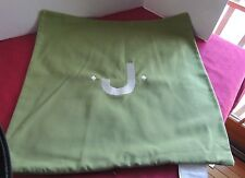 """Pottery Barn INDOOR/OUTDOOR Pillow Cover, """"J"""" Lime, 22"""" NEW"""