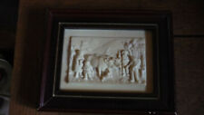 Antique Limestone Tile/Plaque Framed French