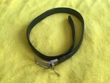 Men's or Women's Reversible Faux Leather Braided Black Brown Belt Size 28 to 40