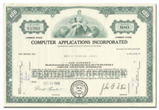 Computer Applications Incorporated Stock Certificate (NASA)