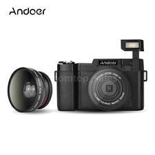 Andoer FULL HD 1080P 24MP Digital SLR Camera DV Video Camcorder with Lens Bundle