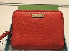 Brand new in box—Kate Spade Zippered Wallet--Mini Lacy Cherry Hill Orange Color