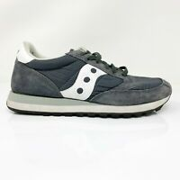 Saucony Mens Jazz Original S2044-353 Gray Running Shoes Lace Up Low Top Size 10