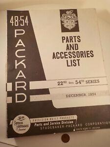 "Original 1970's-vintage (Paper Reprint) ""1948-54 PACKARD ~ PARTS List ~ MANUAL""!"