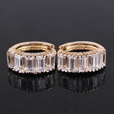 18K Yellow Gold Diamond Hoop Earrings             285
