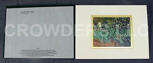 """Vincent van Gogh IRISES 6""""x5"""" Matted Print Gallery Collectible JP Getty Museum"""