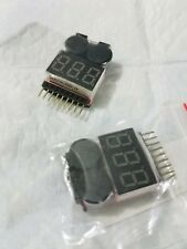 RC Lipo Battery Low Voltage Alarm 1S-8S Buzzer Indicator Checker Tester LED LAUS