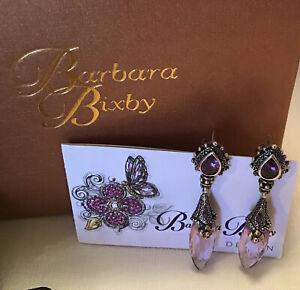 Barbara Bixby Sterling & 18K Amethyst Gemstone Earrings