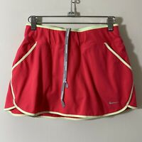 Nike Dri Fit Running Skirt Skort Size S Orange/yellow Athletic Bottoms