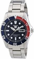 Seiko SNZF15 Sea Urchin Pepsi Stainless Steel Automatic Watch SNZF15K1