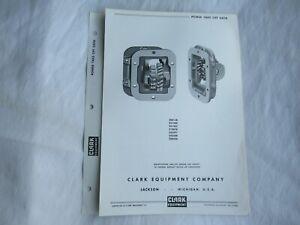 1967 Clark equipment 250v 280v 300v 400v power take off PTO data brochure