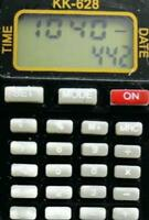 Vintage Watch Digital GoHand KK-628 Calculator Day Date Silicone New Battery Run