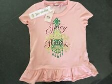 NWT Juicy Couture New Genuine Pink Short Sleeved Cotton T-Shirt Girls Age 8