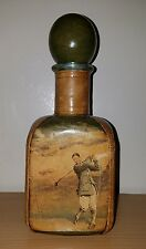 Golf Leather Wrapped Scotch Bottle Made in Italy