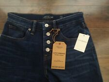 Lucky Brand Abbot Navy Midrise Ava Crop Jeans W29 L25