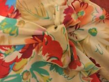 VTG 1980's Made in USA Jessica Max Size L Floral Print Stretchy Mid-Sleeve Top
