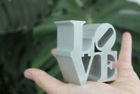 Robert Indiana LOVE Sculpture Authorized Mid Century Modern Eames Mod 60s Silver