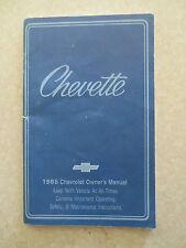 1985 Chevrolet Chevette Owner's Manual