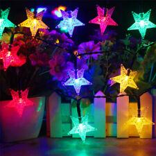 SOLAR POWERED STAR STRING LIGHTS FOR GARDEN OUTDOOR FAIRY CHRISTMAS LAMP DECOR