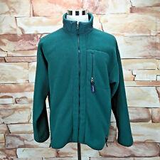 Patagonia Men's Large Green Fleece Full Zip Jacket Camping Hiking RN51884 A27