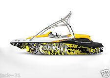 NG GRAPHIC KIT DECAL BOAT SPORTSTER SEA DOO SPEEDSTER SPORT WRAP BEWARE ZOMBIE