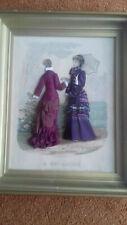 Gravure de mode illustrée habillée La mode illustrée 1887 sous cadre