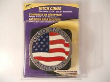 """GOD BLESS AMERICA Trailer Hitch Cover ~ Fits 2"""" & 1 1/4"""" ~ Valley ~ New"""
