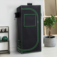 Outsunny Hydroponic Plant Grow Tent Reflective Mylar Obeservation Window Indoor
