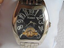 "Stauer 42mm Tonneau Style ""Open Heart"" Automatic High Polished SS Watch L@@K!!!"