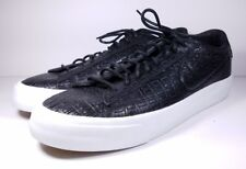Nike Size 11.5 Shoe Blazer Studio Low Black Leather Croc Fashion Shoe 880872-001