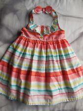 'GYMBOREE' BABY TODDLER GIRL SUMMER HALTER NECK DRESS SIZE 1 LIKE NEW