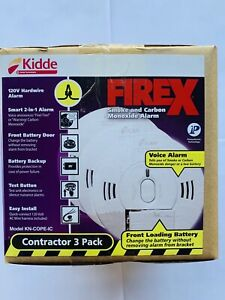 Kidde 3-Pack FireX Smoke and Carbon Monoxide Detector KN-COPE-IC - Battery/Wire