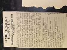 M3-9a ephemera 1941 dagenham ww2 cricket report goodmayes  red triangle