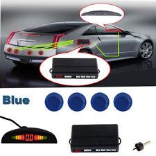 Radar Alarming System Kits 4 Parking Blue Sensors LED Display Car Reversing