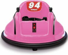 Kids ASTM-Certified Electric 6V Ride Bumper Car W/ Remote Control 360 Spin~ Pink