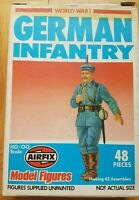 Airfix 1/72 World War One 48+20 Stück GERMAN INFANTRY original aus 1970-er !