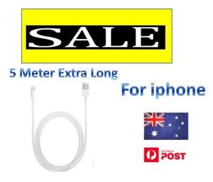 EXTRA Long 5 Metre USB  Cable Charger for Apple NEW ipad and iphone 11 Pro/XMAX