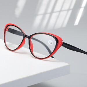 3 Pairs Womens Cat Eye Reading Glasses Spring Hinge Readers Glasses 1.0~4.0 B