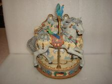1998 Willitts German Design Musical Carousel Horse By Ann Dezendof