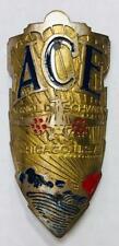 vintage Schwinn ACE bicycle Head Badge SHIELD tag emblem