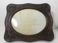"Rare Vintage Huge Bakelite Wood Tone Picture Photo Frame, 11"" x 14"" (Image)"