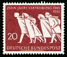 EBS Germany BRD 1955 Expulsion of Germans from the East Michel 215 MNH**