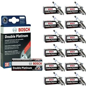 12 Bosch Double Platinum Spark Plugs For 2006 BENTLEY CONTINENTAL W12-6.0L