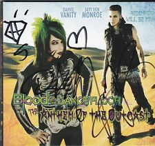 BLOOD ON THE DANCEFLOOR <> RARE SIGNED CD [THE ANTHEM OF THE OUTCAST]