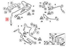 Genuine BMW E60 REGULATING Lambda Probe Oxygen Sensor 1400MM OEM 11787558055