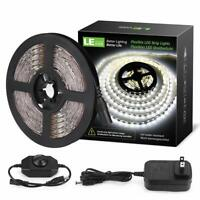 LE 16.4ft Dimmable LED Strip Light Kit with 12V Power Supply, 300 LEDs SMD 283..